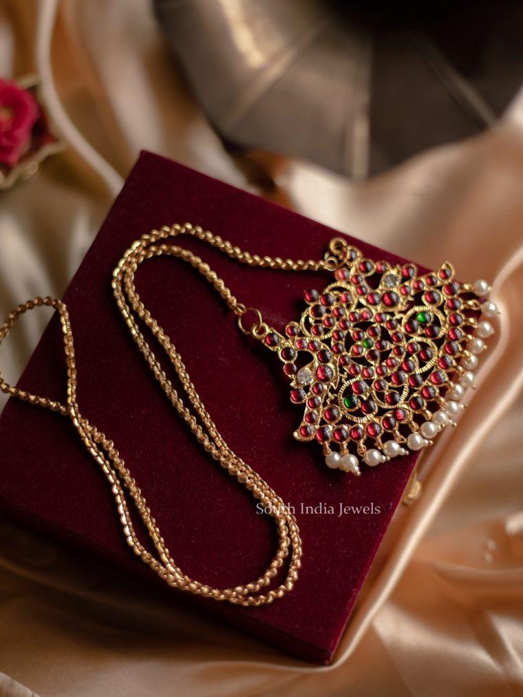 Imitation Kemp Stone Simple Necklace