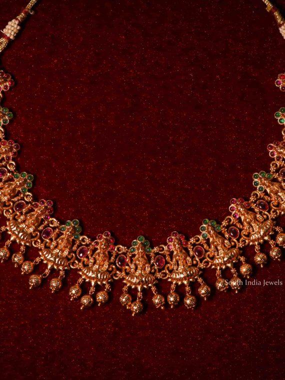 Imitation Lakshmi Design Multi Stone Necklace