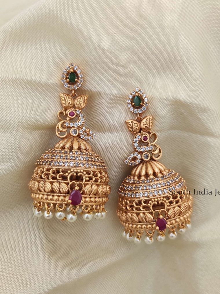 Imitation Long AD Peacock Jhumka-02