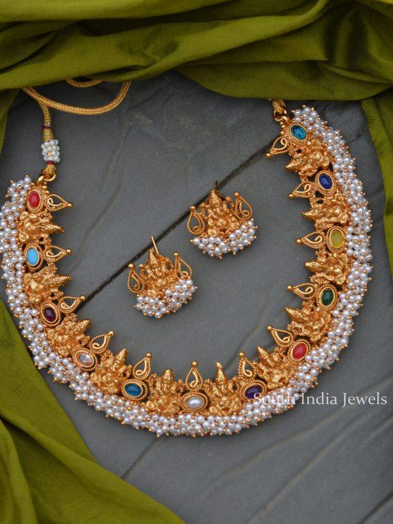 Matte Ganesha Guttapusalu Navarathna Necklace-01