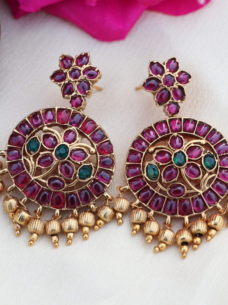 One Gram Gold Kemp Earrings