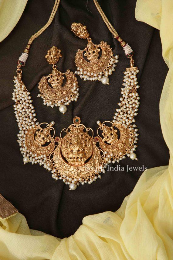 Premium Lakshmi Pearl Necklace-01