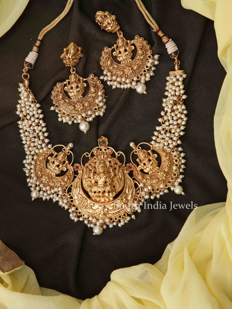Premium Lakshmi Pearl Necklace-01