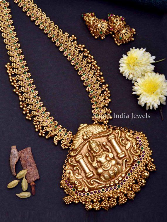 Premium Quality Antique Lakshmi Design Haram-01