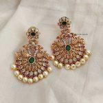 Premium Quality Light Weight Peacock Chandbali Earrings-01