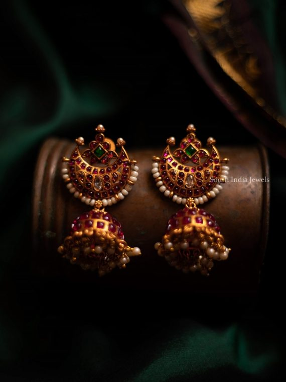 Simple Half Moon Design Jhumka