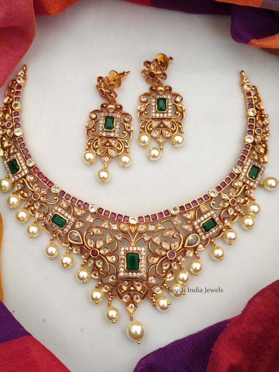South Indian Ruby & Emerald Necklace-02