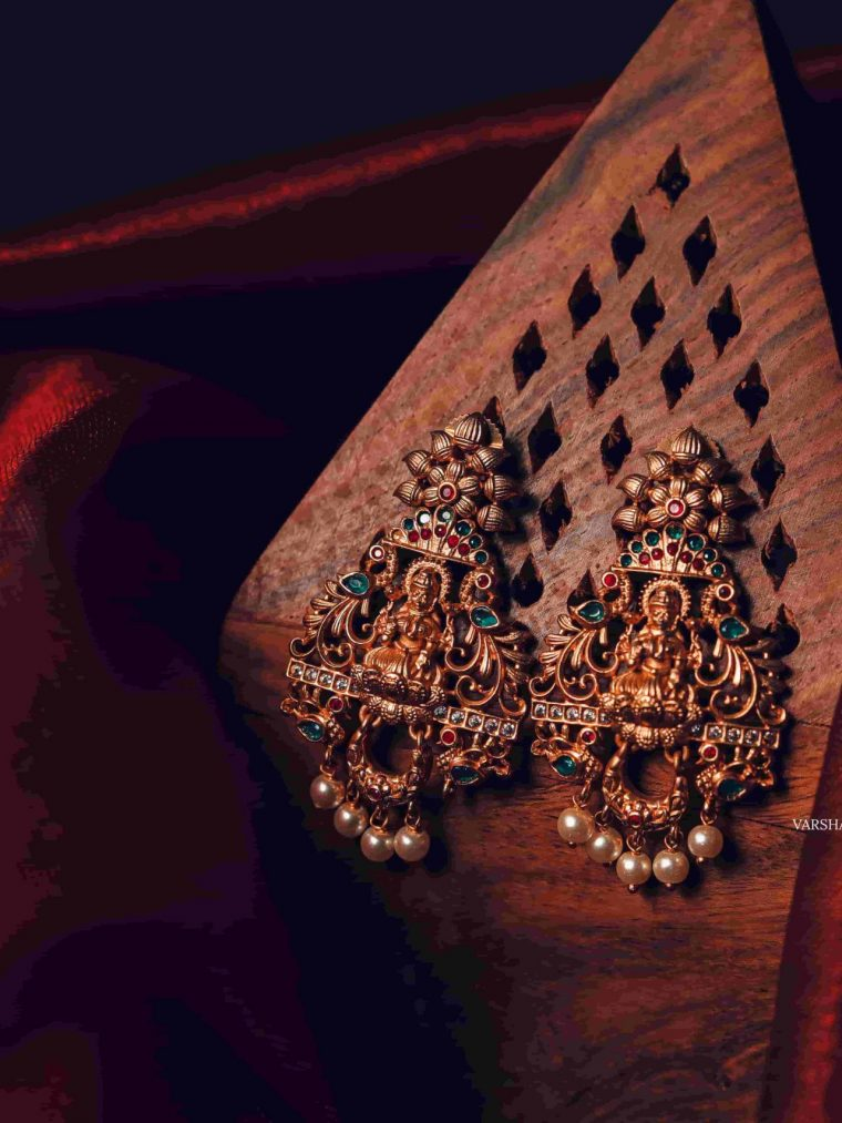 South Indian Temple Light Weight Earrings-01