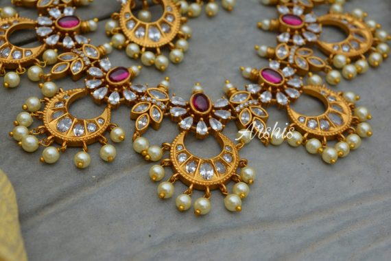 Stunning AD Stone Chandbali Necklace