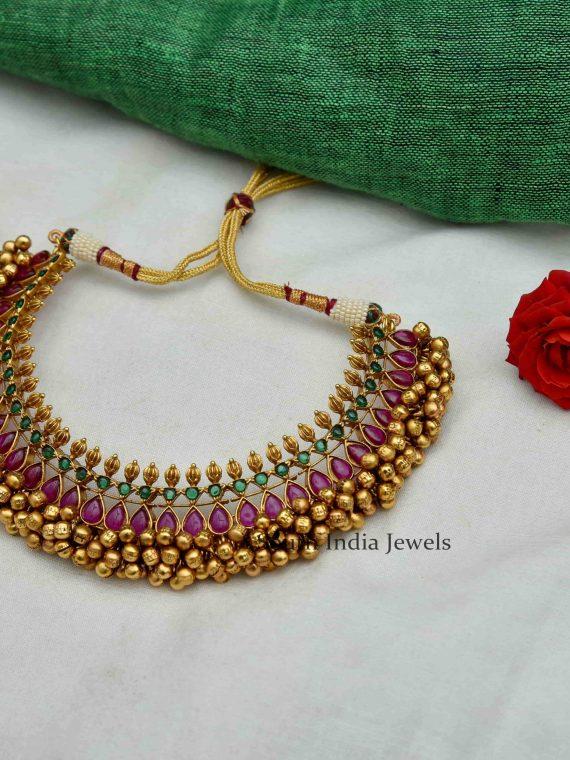 Stunning Imitation Ghungroo Necklace