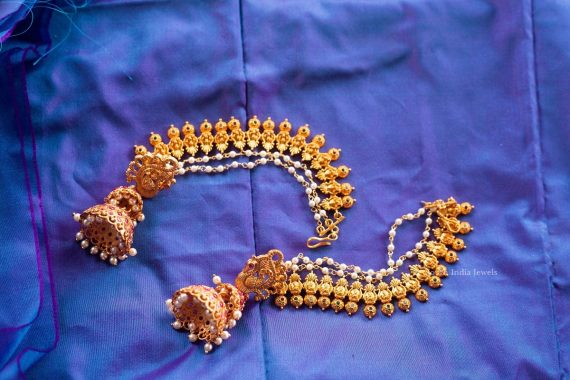 Traditional Double Layer Jhumka with Mattal