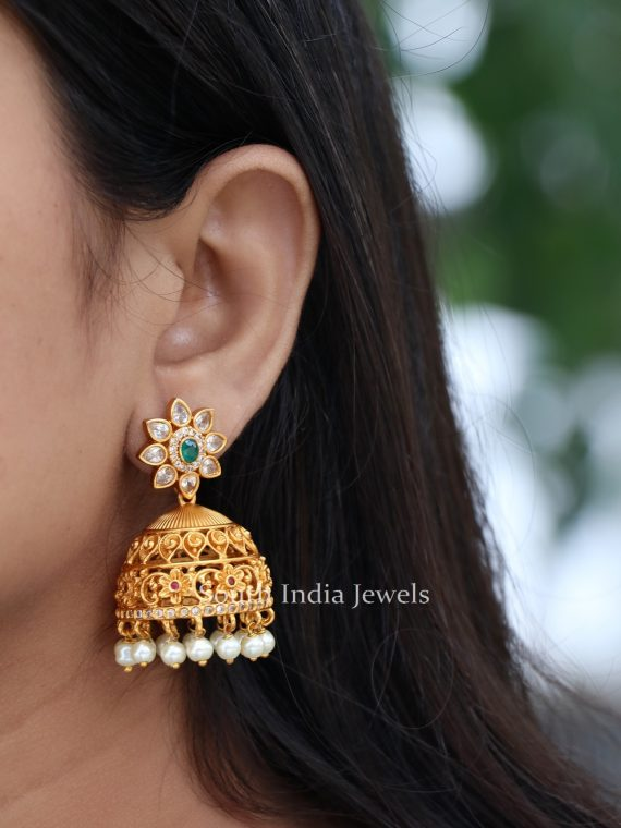 Traditional Floral Light Weight Jhumkas