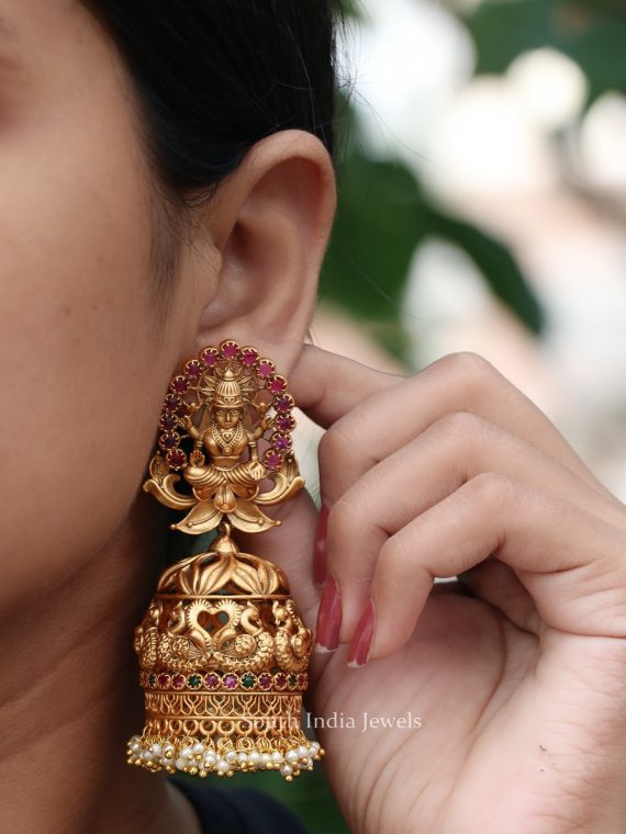 Traditional Lakshmi Drop Jhumka