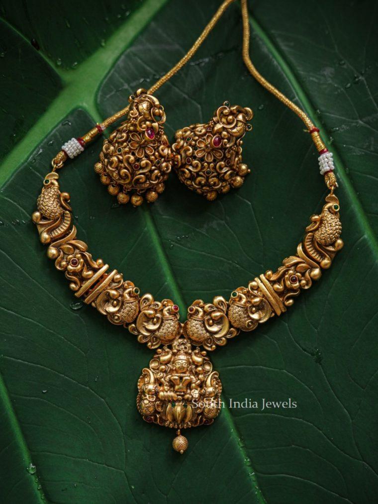 Traditional Wear Dwarapalakas Necklace-01
