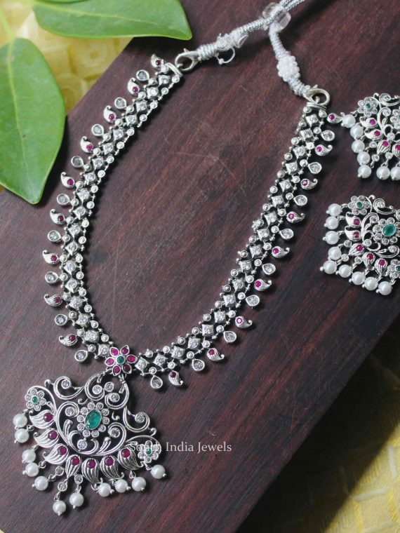 Traditional Wear German Silver Necklace