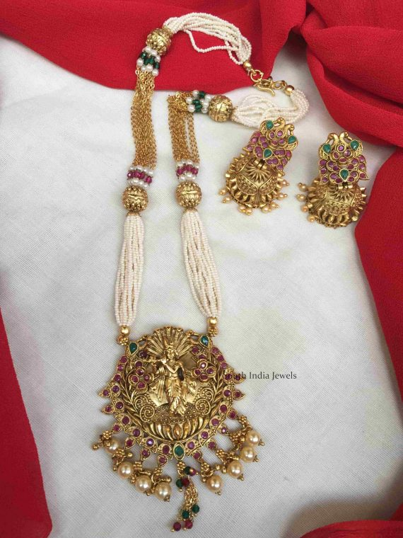 Traditional Wear Krishna Pendant Chain