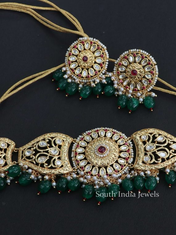 Traditional Wear Kundan Choker Set