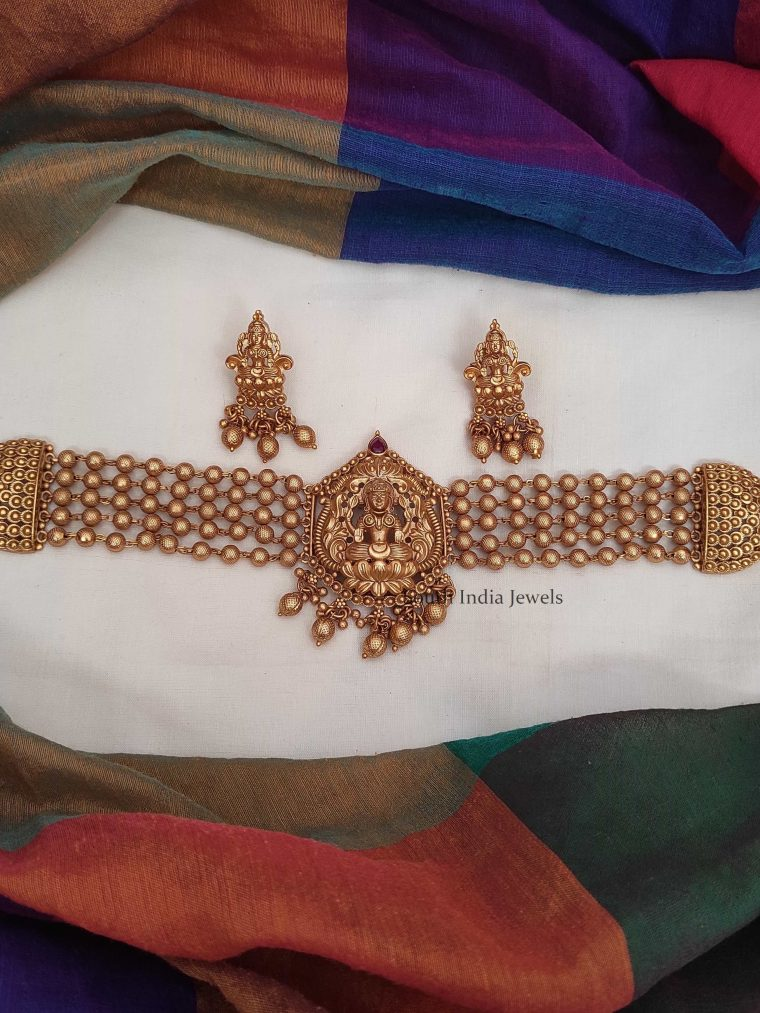 Traditional Wear Lakshmi Design Choker-01