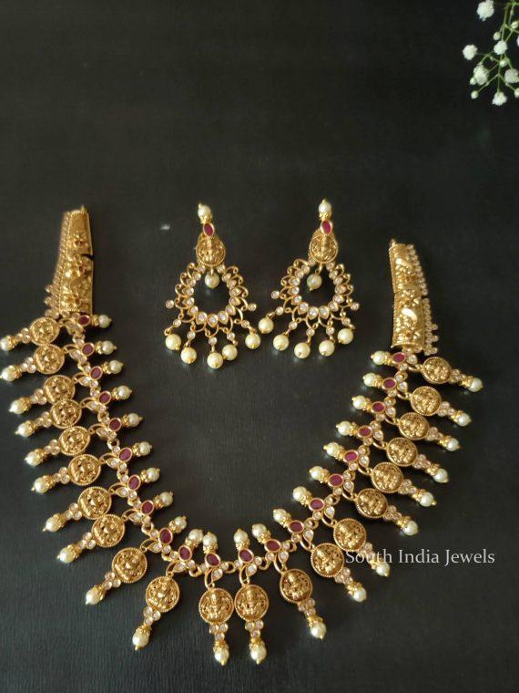 Traditional Wear Lakshmi Design Necklace
