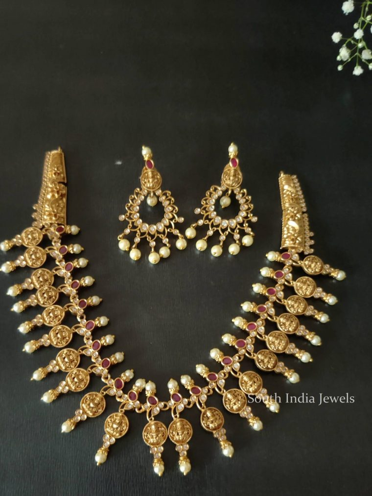 Traditional Wear Lakshmi Design Necklace
