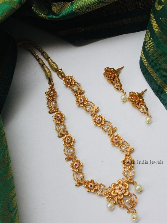Traditional Wear Matte Finish Necklace-01