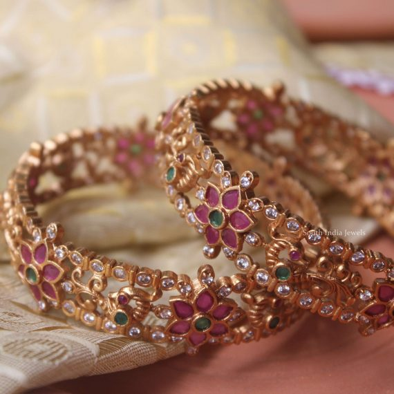 Traditional Wear Peacock Bangles