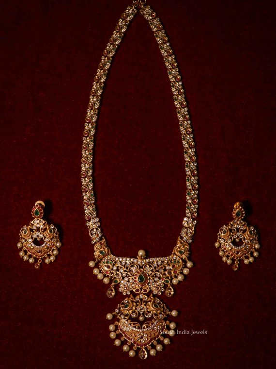Traditional Wear Pearl Drop Pendant Haram