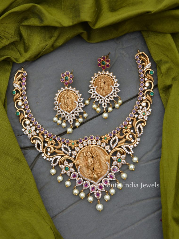 Traditional Wear Ram Parivar Necklace