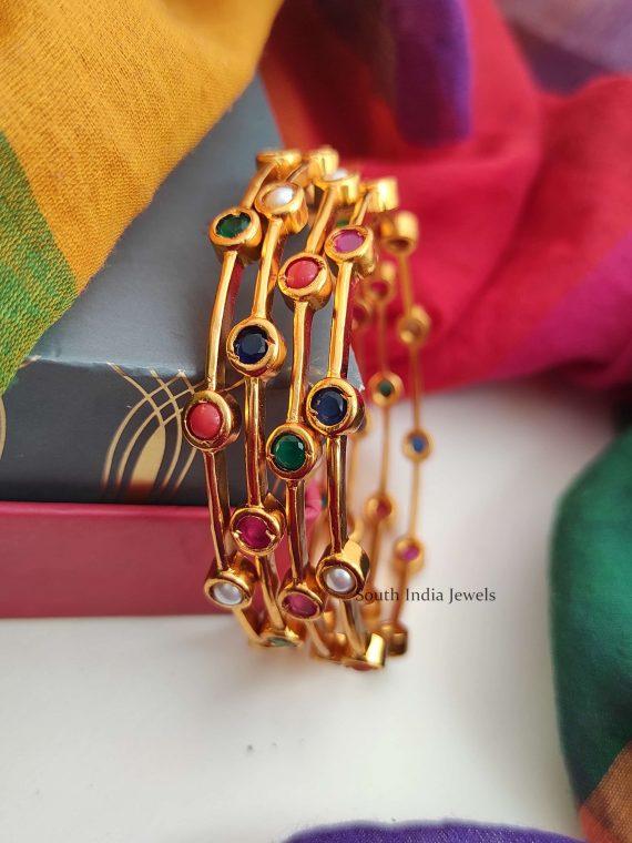 Trendy Navarathna Stone Bangles-02