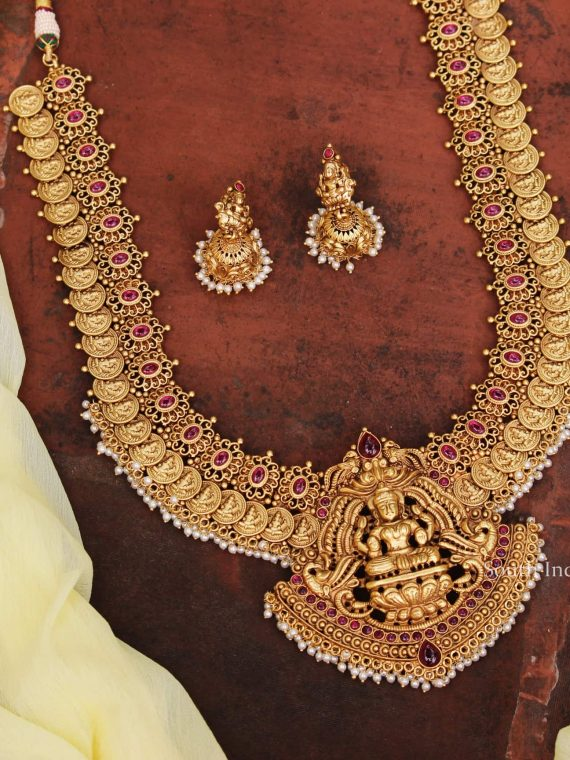 Wedding Wear Imitation Lakshmi Coin Haram