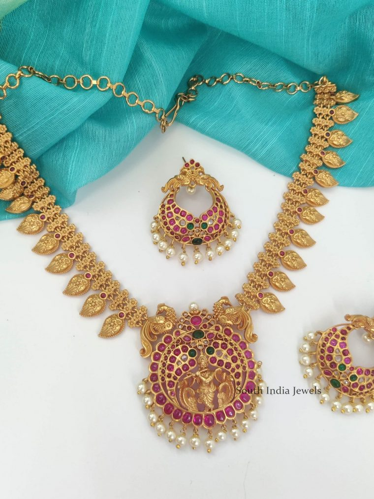 Alluring Krishna Necklace with Earrings