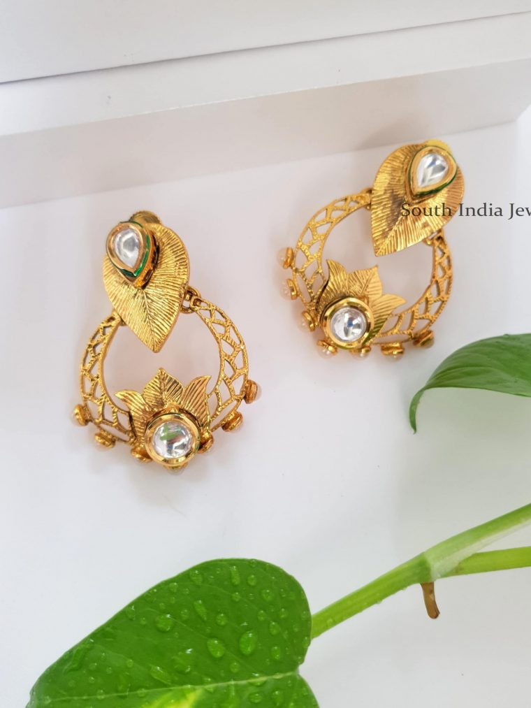 Antique Imitation Chandbali Earrings