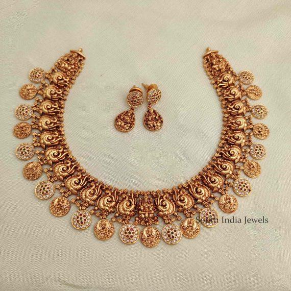 Antique Imitation Lakshmi Necklace-01