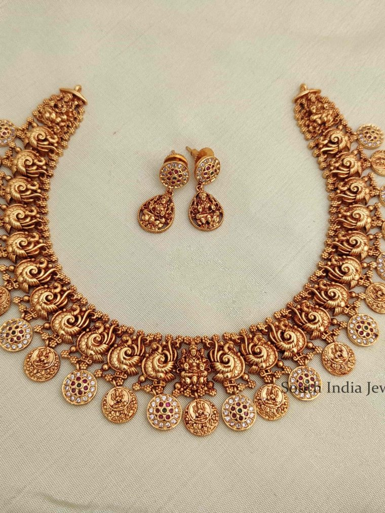 Antique Imitation Lakshmi Necklace-01
