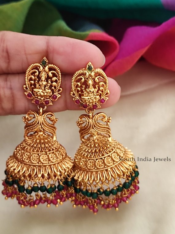 Antique Light Weight Lakshmi Jhumkas