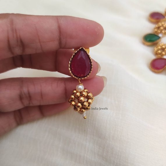 Antique Ruby Emerald Necklace (2)