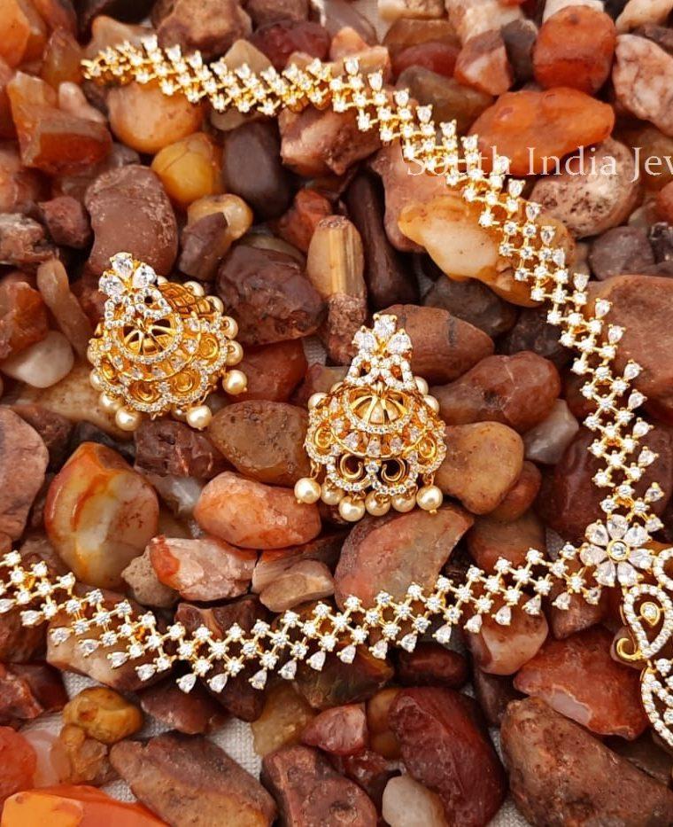 Awesome-Diamond-Alike-Necklace-and-Jhumkas