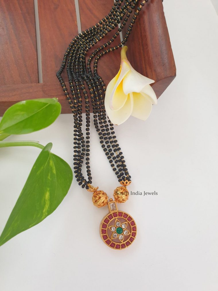 Beautiful Black Beads Single Mangalsutra