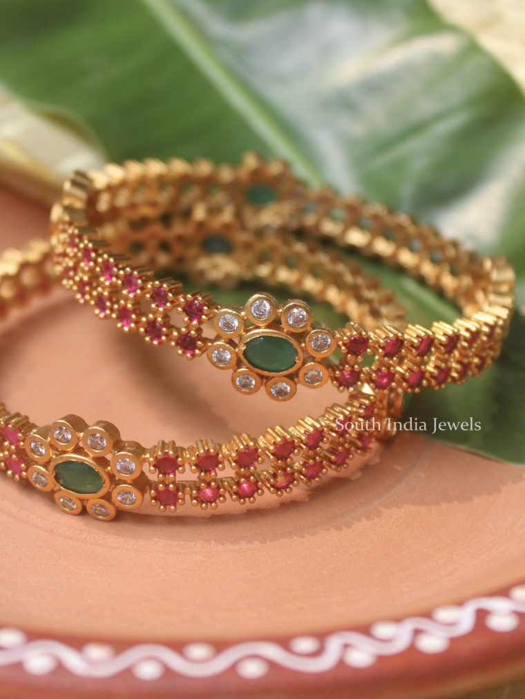Beautiful Flower Design Bangles