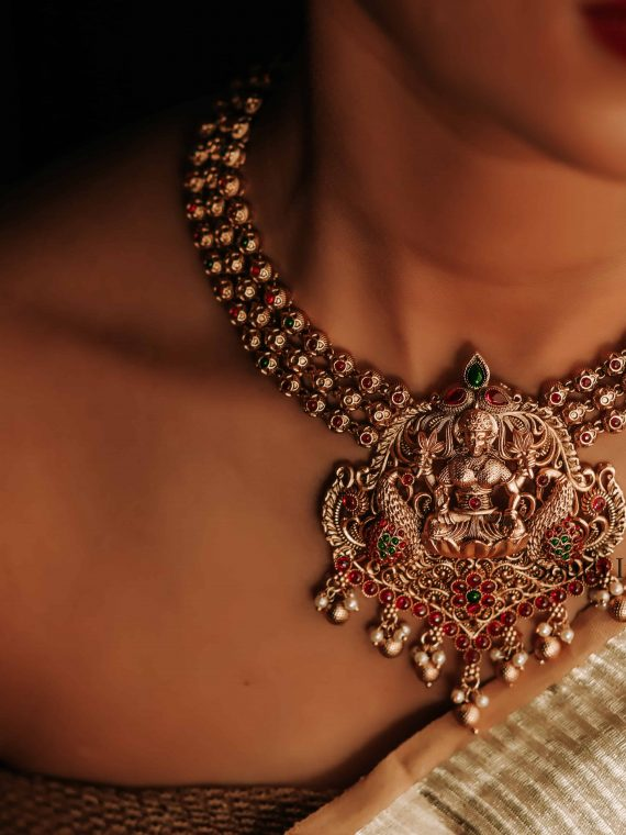 Beautiful Iconic Lakshmi Pendant Necklace -01