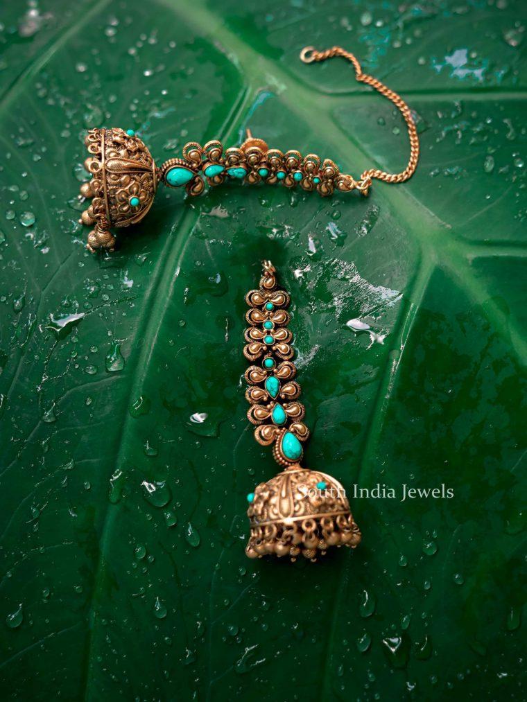 Beautiful Imitation Jhumkas with Chain-03