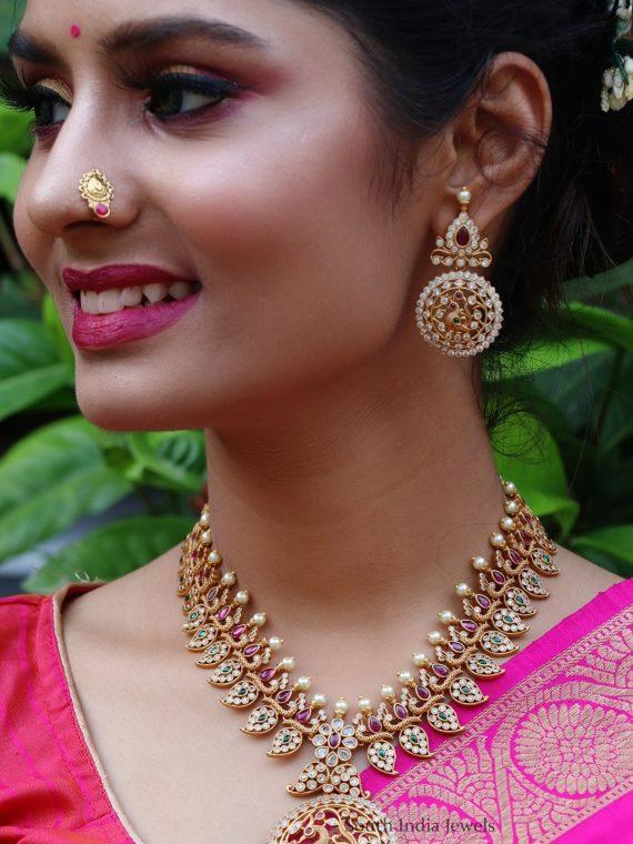 Beautiful Kemp Stone Mango Necklace