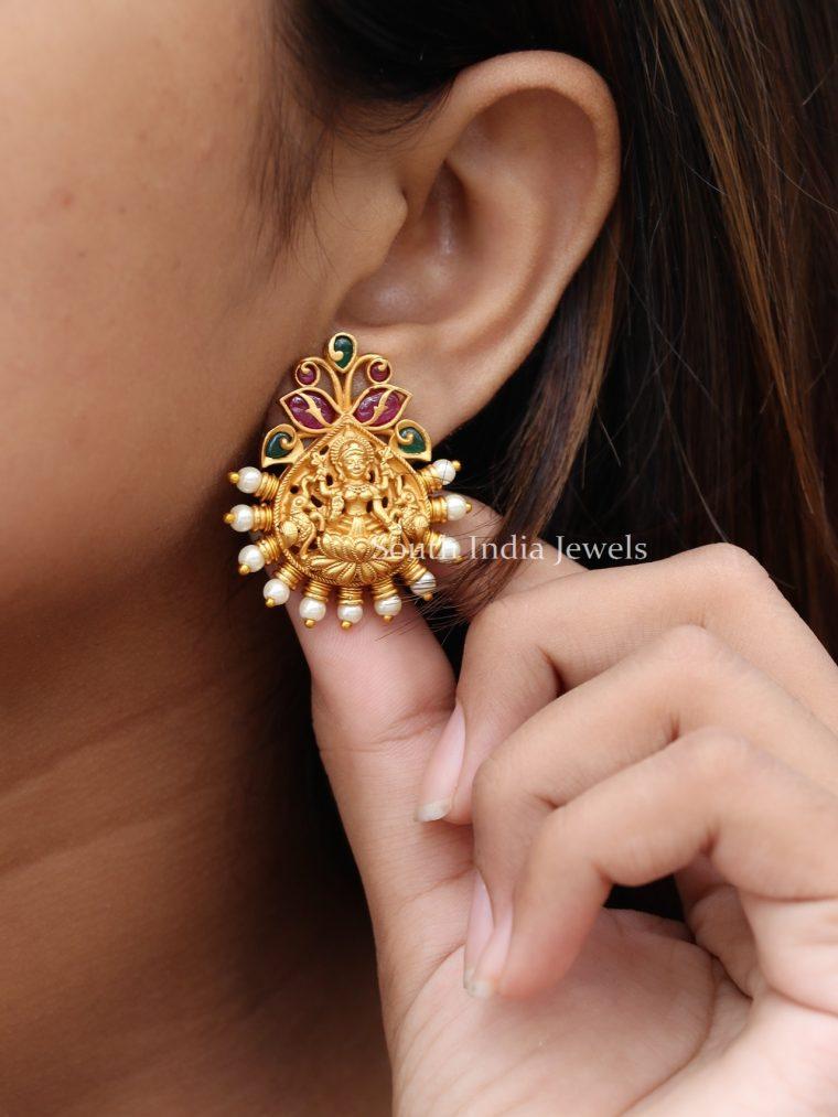 Beautiful Lakshmi Design Ear Studs