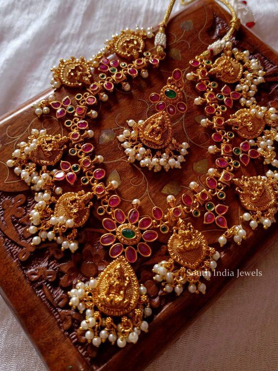 Beautiful Lakshmi Design Guttapusalu Necklace