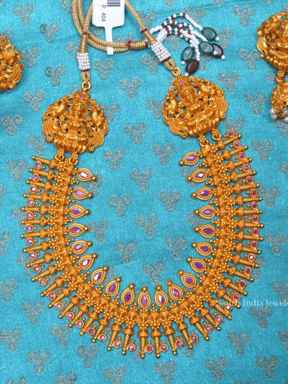 Beautiful Lakshmi Design Spikes Necklace