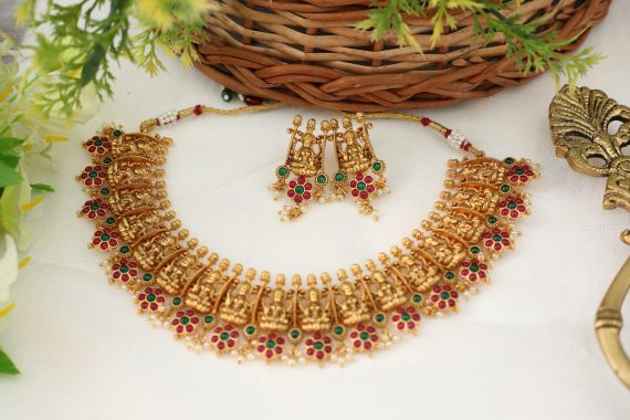Beautiful Lakshmi Guttapusalu Necklace