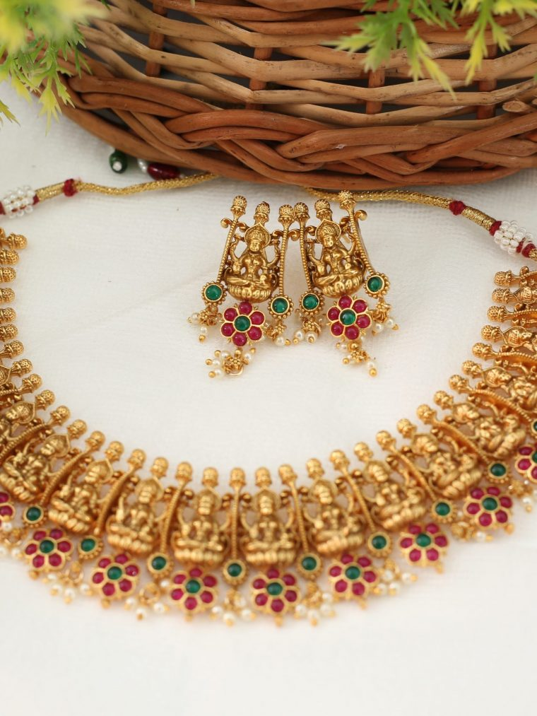 Beautiful Lakshmi Guttapusalu Necklace