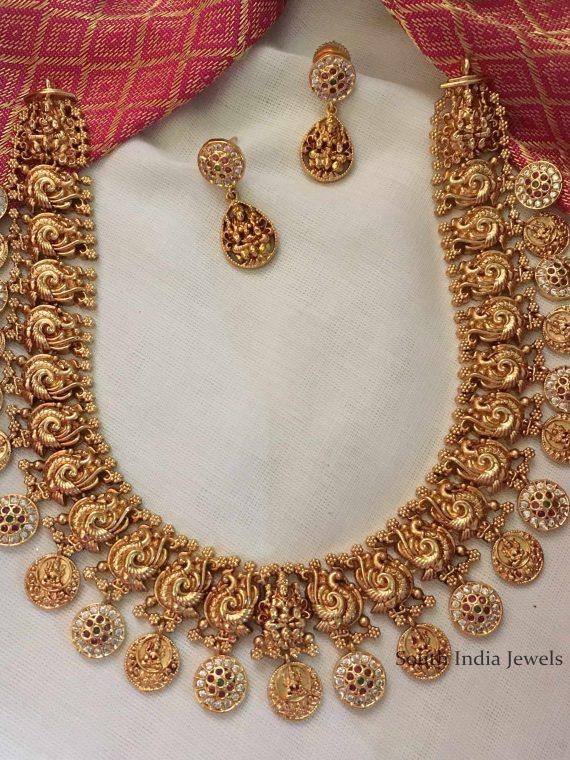 Beautiful Lakshmi Matte Finish Necklace-01