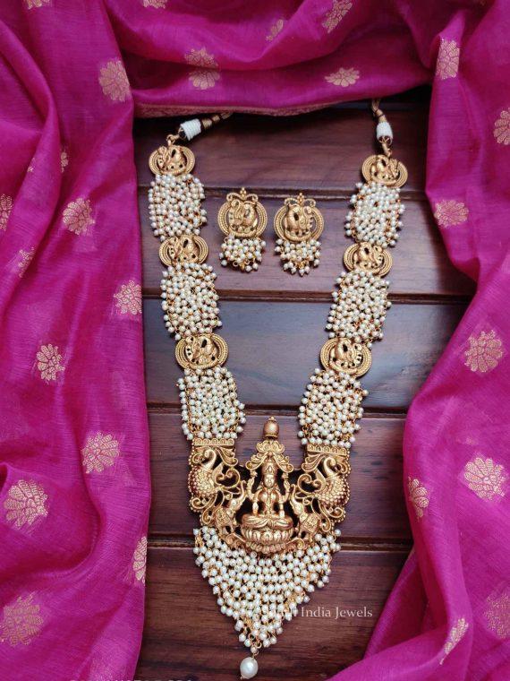 Beautiful Lakshmi Pendant Pearl Haram