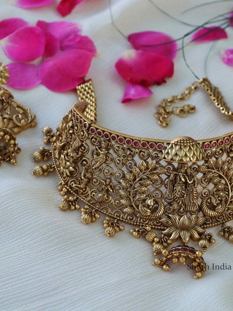 Beautiful Matte Finish Radha Krishna Choker
